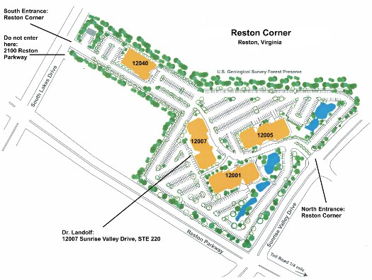 Diagram of Reston Corner Office Complex